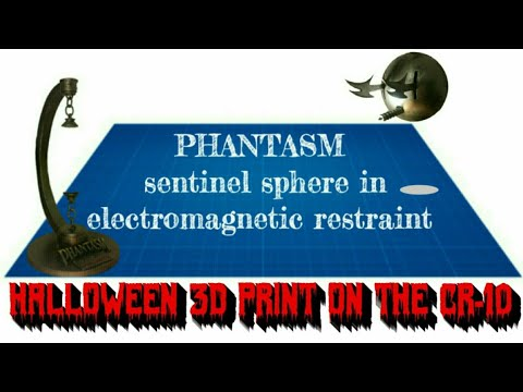 PHANTASM movie prop, Sentinel sphere with floating effect magnetic stand,  3D printing Creality CR-10