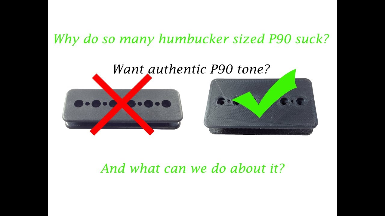 Why do so many humbucker sized P90s suck, and what can we (as pickup  builders) do about it?