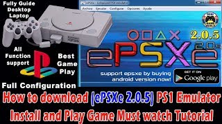 Gambar cover How to download and install (ePSXe 2.0.5) PS1 emulator in pc and play best games