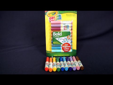 color wonder mini markers from crayola youtube