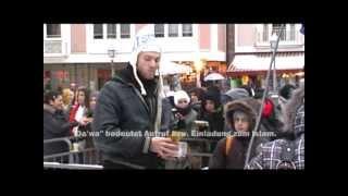Pierre Vogel Salafisten - Kundgebung Frankfurt, 09.01.2010