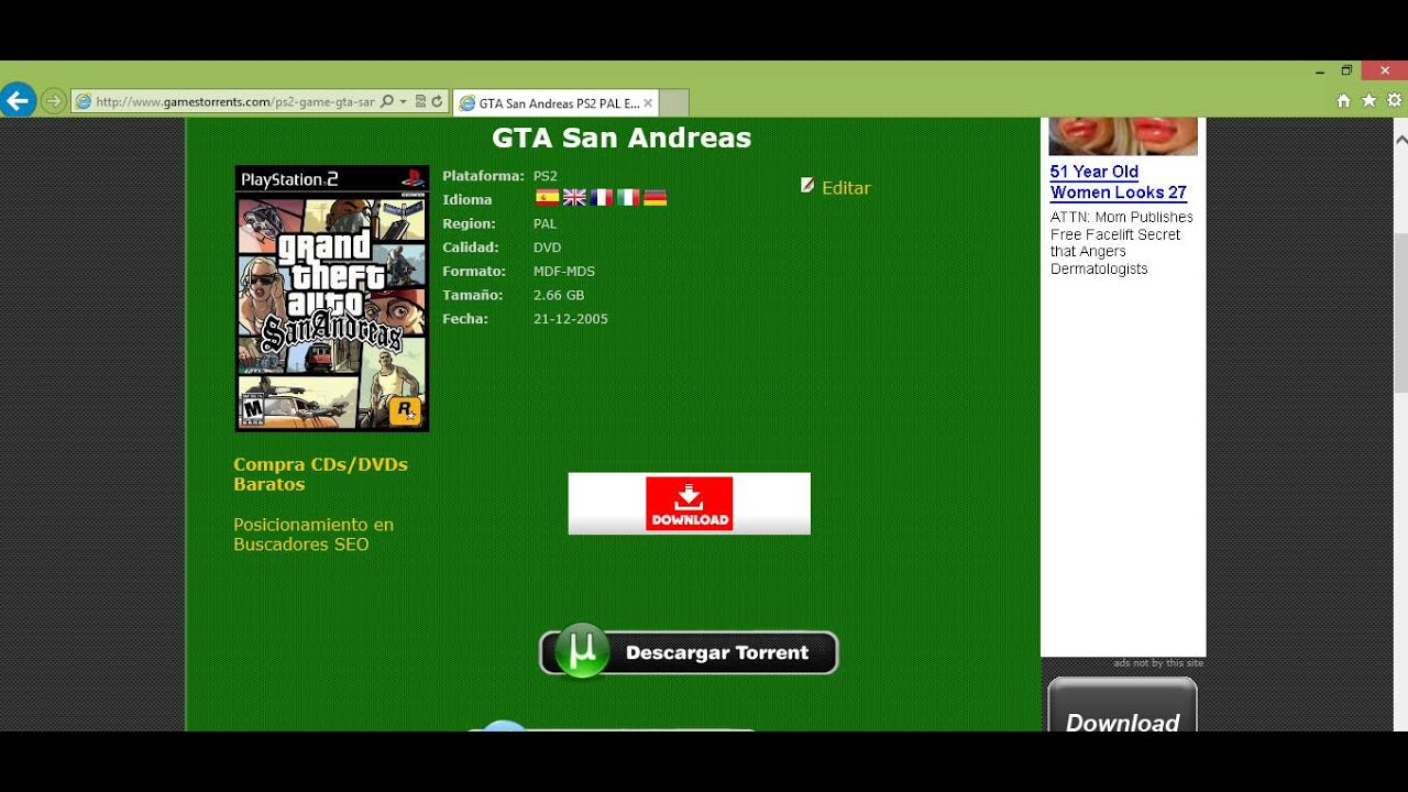 grand theft auto san andreas download full game free torrent