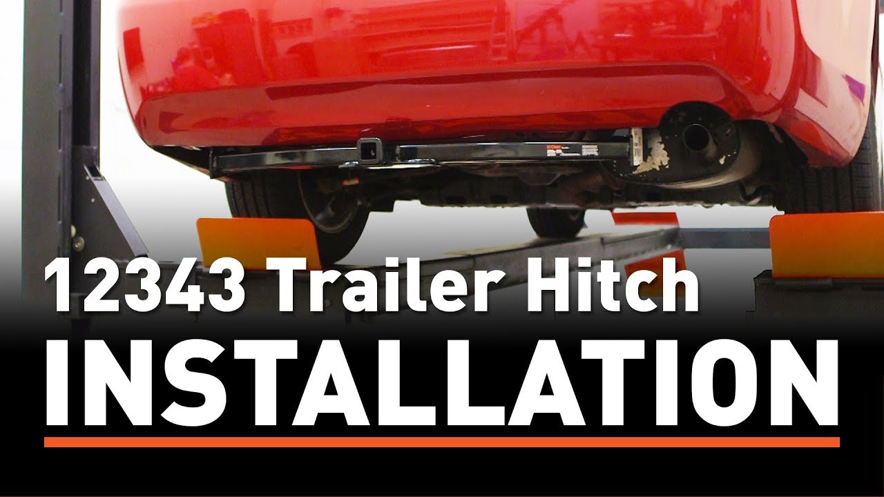 Trailer Hitch Install Curt 12343 On A Toyota Camry