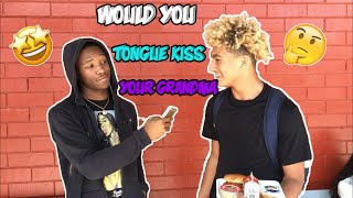 Would you tongue kiss your grandma for........... 20 mill 👀💰|| PUBLIC INTERVIEW