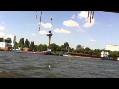 Friesland Bank Rotterdam - Skûtsjesilen op de Maas