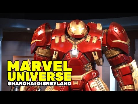 Up close look at the Marvel Universe area at Shanghai Disneyland