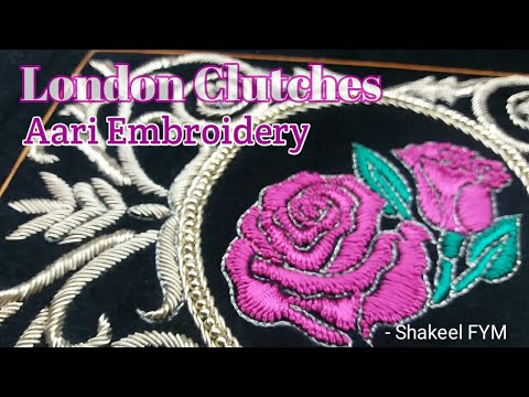 London embroidery clutches | embroidery bag | hand embroidery | design
