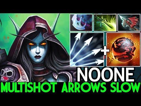 NOONE [Drow Ranger] Insane Multishot Arrows Slow Raid Boss 7.23 Dota 2