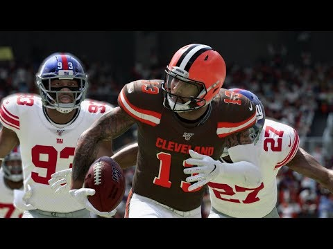 Madden 20 Gameplay - Cleveland Browns Vs New York Giants (Madden NFL 20 )