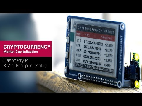 Cryptocurrency Exchange Rates E-paper Display