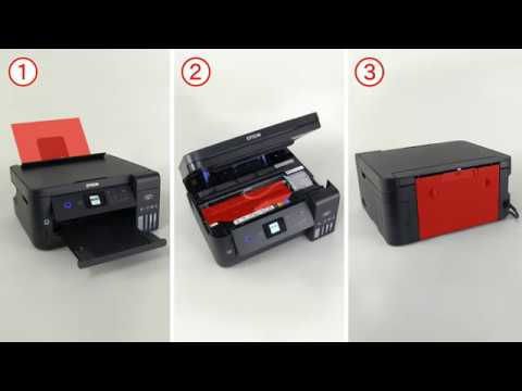 How to Remove Jammed Paper (Epson ET-2750) NPD5837