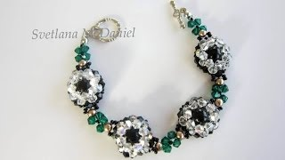 Beaded Bracelet Black Pearls. Браслет Черный Жемчуг