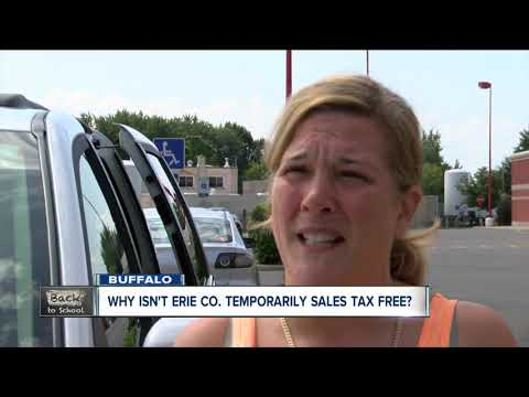 Why Isn't Erie Co. Sales Tax Free During Back To School Shopping?
