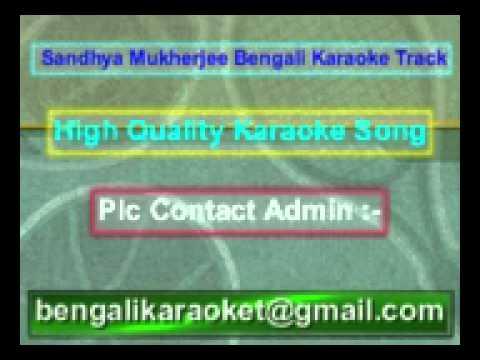 Ke Tumi Amare Dako Karaoke Sandhya Mukherjee