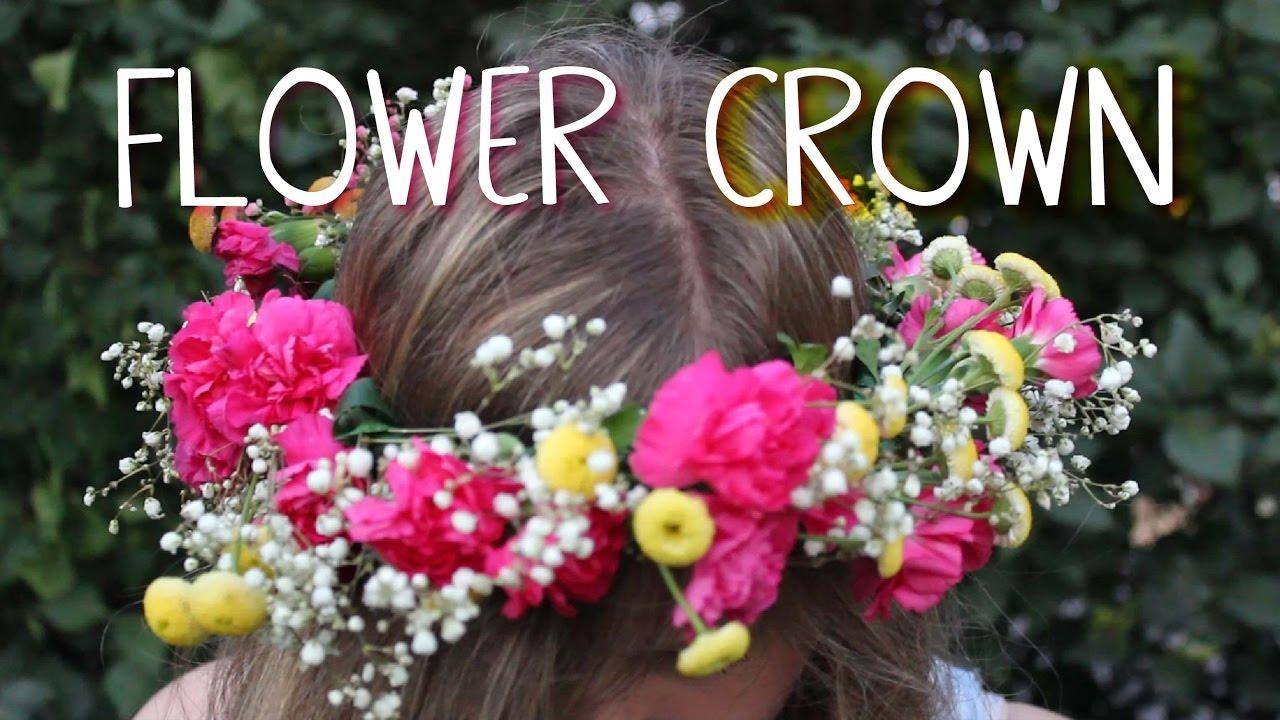 Diy fresh flower crown youtube diy fresh flower crown izmirmasajfo