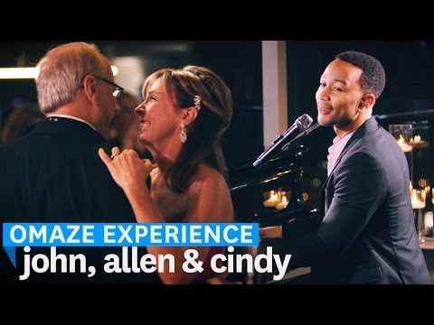 John Legend Sings at Contest Winner's Wedding // Omaze Experience