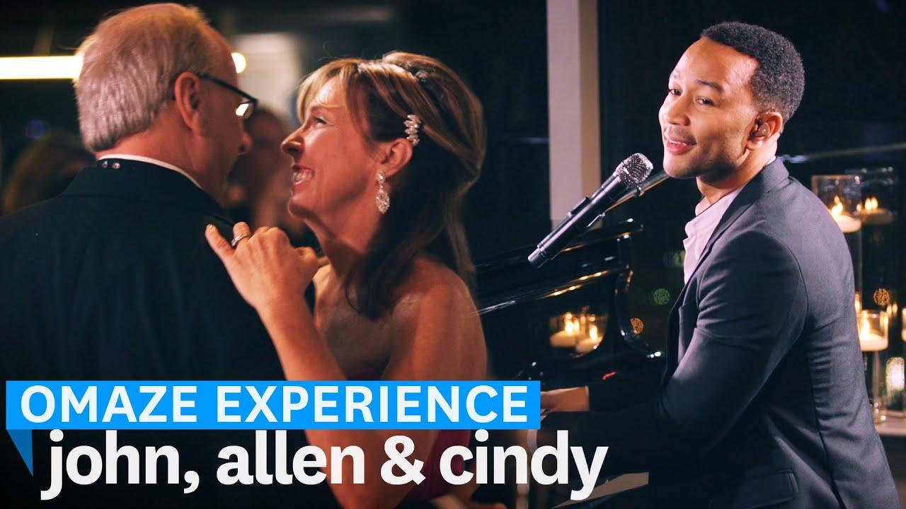 John Legend Sings At Contest Winner S Wedding Omaze Experience