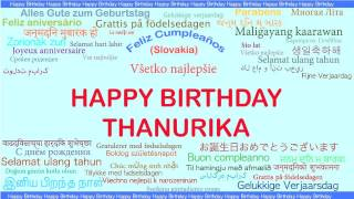 Thanurika   Languages Idiomas - Happy Birthday