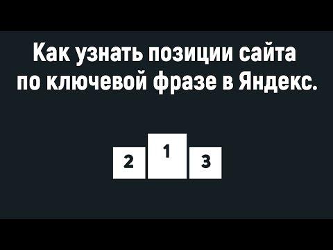 Как узнать позиции сайта по ключевой фразе в Яндекс.