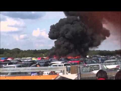 Plane crash at Blackbushe Airport in Hampshire, England. | 31/07/2015