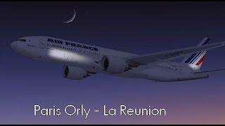 Flight Simulator X | Paris Orly (LFPO) - La reunion, Roland Garros (FMEE) Boeing 777-328