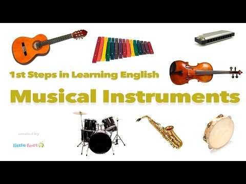 Learn MUSICAL INSTRUMENTS in English Through PICTURES | Vocabulary for Kids