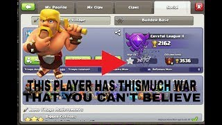 THIS PLAYER HAS THE MOST WAR STARS IN CLASH OF CLANS