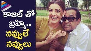 Kajal Aggarwal Superb Fun with Brahmanandam | Kalyan Ram's MLA Movie Fun on Sets | Telugu Filmnagar