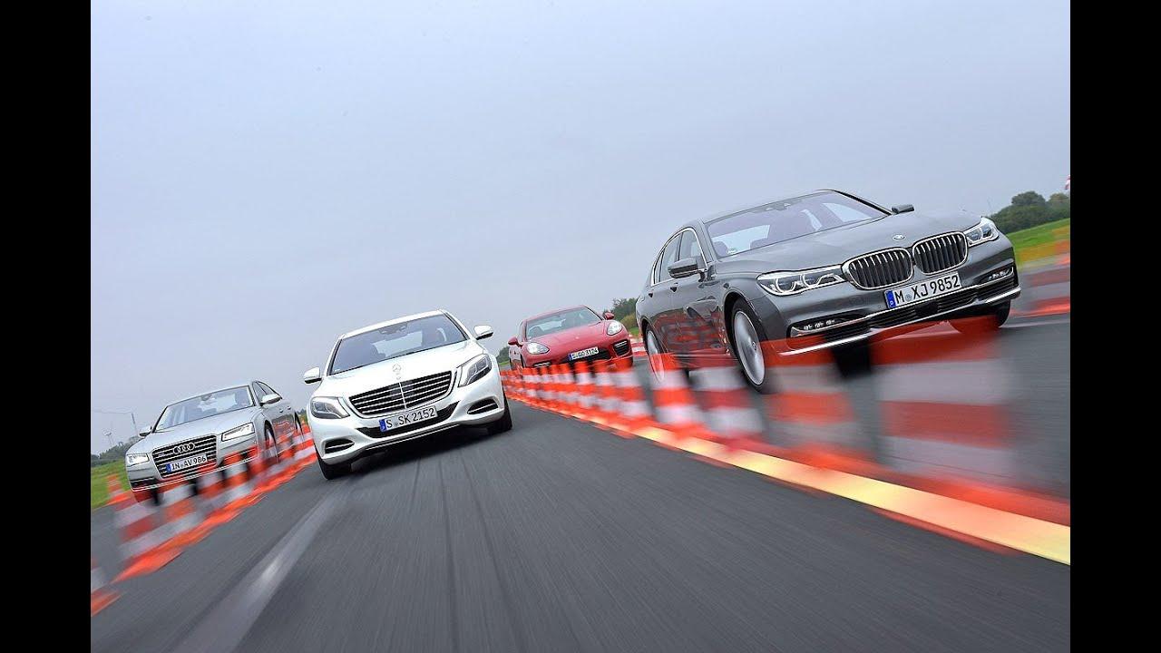 Audi a8 vs bmw 7 series vs mercedes benz s class vs for Mercedes benz s class vs bmw 7 series