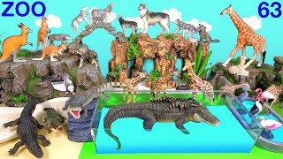 Wild Zoo Animals - Toys For Kids - Learn Animals Names and Sounds - Learn Colors with Animals 63