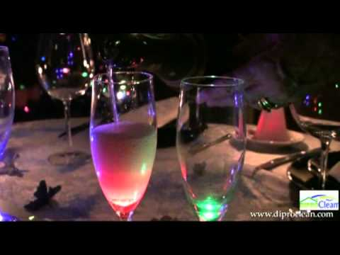 coupes de champagne led rechargeables en verre youtube. Black Bedroom Furniture Sets. Home Design Ideas