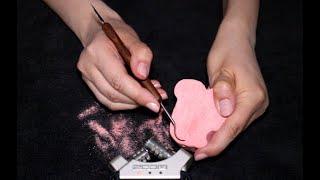 ASMR Carving & Scratching 🌺 Bath Bomb, Makeup, Chocolate, Soap (No Talking)