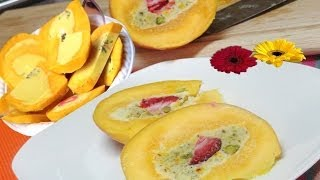Kulfi Stuffed Mango Video Recipe By Bhavna - Indian Ice Cream Dessert
