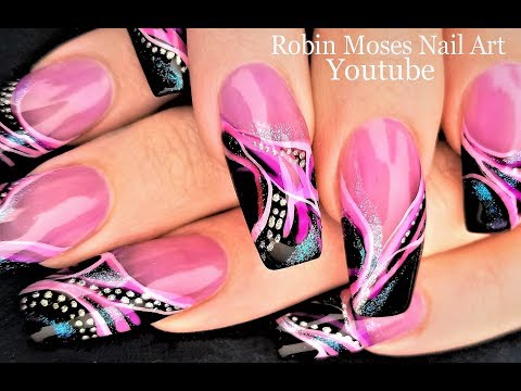 Spring Diva Long Nail Art Design 2018