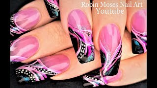 Try this Pink and black design for pennies and practice!