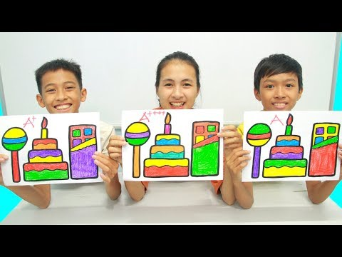 Chocolate, Birthday Cake, Lollipops Warna Warni Belajar Menggambar dan Mewarnai untuk Anak