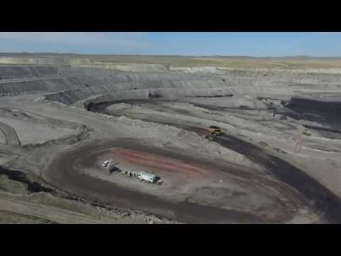 Eagle Butte Coal Mine Gillette Wyoming Aerial Video