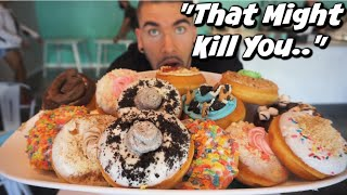 DEATHLY 8LB DONUT CHALLENGE In Atlanta! | 10,000 Calorie Donut Cheat Meal | Man Vs Food