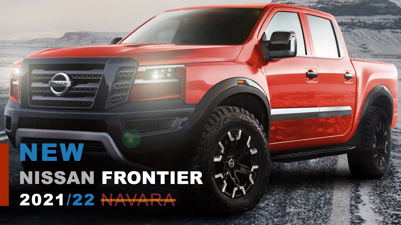 New Nissan Frontier 2021 Model Redesign Rendered with King and Crew Double Cab