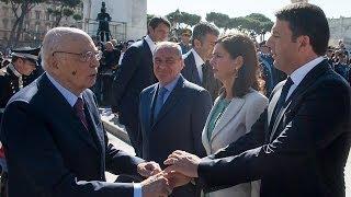 Festa della Repubblica Napolitano Parata Militare con Renzi