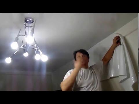 Натяжные потолки своими руками видео уроки без нагрева