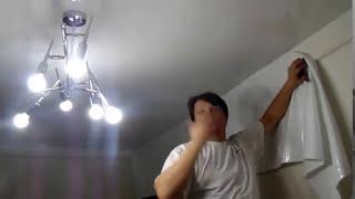 Натяжной потолок - Атлас. Без пушки !(, 2014-10-22T07:33:01.000Z)
