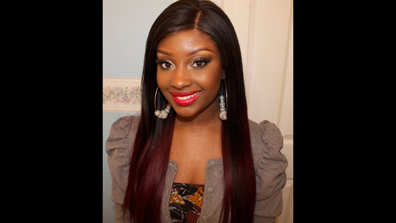 Red Ombre' Hair + The Perfect Red Lip (any skintone ...