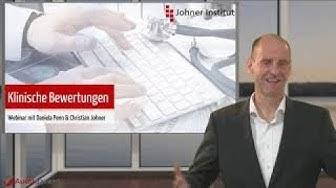 """Webinar """"Klinische Bewertung"""" mit Prof. Dr. Christian Johner"""