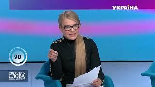 Тимошенко шокувала двома новинами / Свобода слова Савіка Шустера