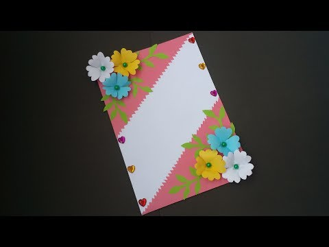 DIY: Handmade Greeting Card!! How to  Make Paper Card for Birthday/Greetings/Valentine day!!