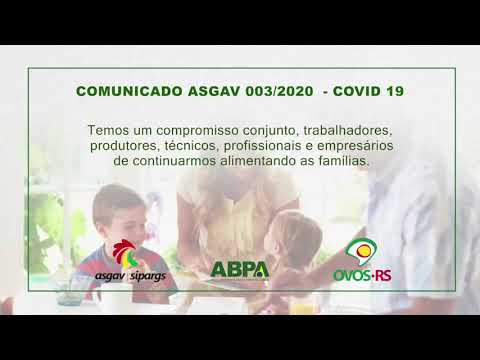 COMUNICADO 003/2020 - ASGAV/SIPARGS/ABPA/PROGRAMA OVOS RS - COVID 19
