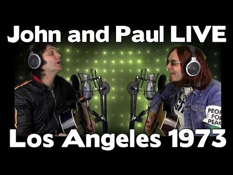 John Lennon and Paul McCartney LIVE -  Los Angeles 1973