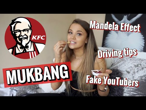 KFC MUKBANG | DRIVING TEST TIPS, FAKE YOUTUBERS AND THE MANDELA EFFECT