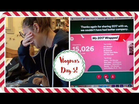 VLOGMAS #5: Such a bad day & Spotify Wrapped // Becca